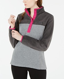 Columbia Benton Springs Snap-Front Colorblocked Top