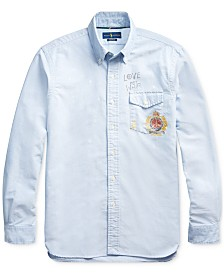 Polo Ralph Lauren Men's Custom Fit Graphic Oxford Sport Shirt