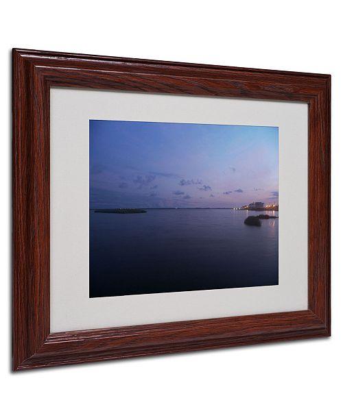 """Trademark Global Monica Fleet 'Pure Elegance' Matted Framed Art - 14"""" x 11"""""""
