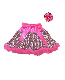 One Size Girls Petti Skirt and Flower Accessory