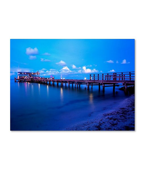"Trademark Global Preston 'Florida Pier' Canvas Art - 14"" x 19"""