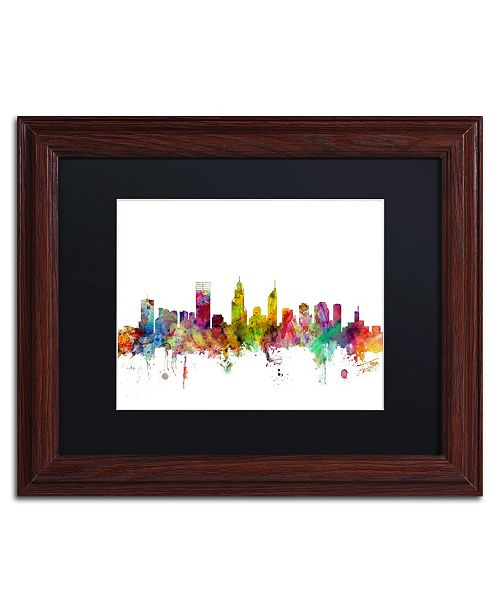"Trademark Global Michael Tompsett 'Perth Australia Skyline' Matted Framed Art - 11"" x 14"""