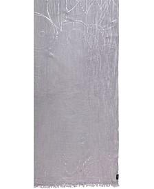 Fraas Script in Metallic Oblong Scarf