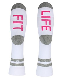 SOCK TALK Ladies' Crew Socks FIT LIFE