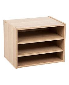 Tachi Modular Wood Stacking Storage Box With Drawer