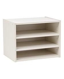 Tachi Modular Wood Storage Organizer Box With Adjustable Shelves
