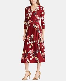 Lauren Ralph Lauren Petite Floral-Print A-line Dress