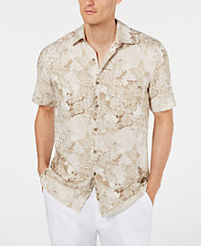 Tasso Elba Men's Watercolor Silk Shirt, Created for Macy's