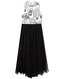 Big Girls Caviar-Beaded Wire-Hem Dress