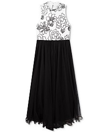 Speechless Big Girls Caviar-Beaded Wire-Hem Dress
