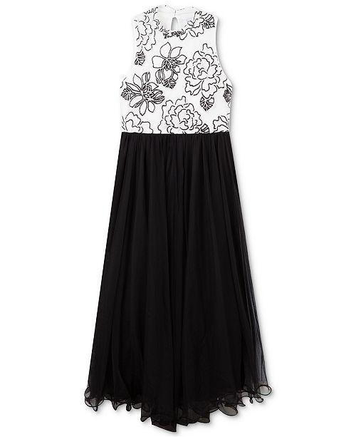 Speechless Big Girls Caviar-Beaded Wire-Hem Dress