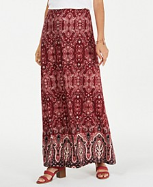 Petite Printed Maxi Skirt, Created for Macy's