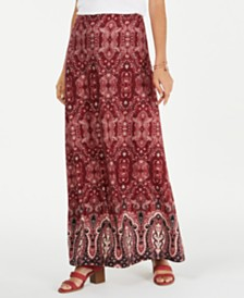 Style & Co Petite Printed Maxi Skirt, Created for Macy's