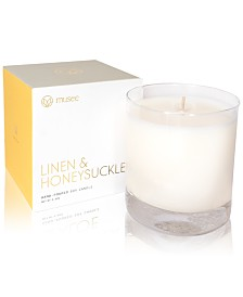 Musee Linen & Honeysuckle Hand-Poured Soy Candle, 8.8-oz.