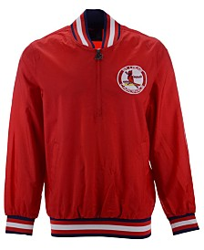 Starter Men's St. Louis Cardinals Coop Home Game Half-Zip Pullover