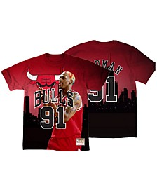 Men's Dennis Rodman Chicago Bulls City Pride Name And Number T-Shirt