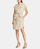 b4cc6511 Lauren Ralph Lauren Self-Tie Buttoned Shirtdress