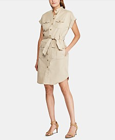 Lauren Ralph Lauren Self-Tie Buttoned Shirtdress