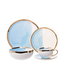 Dauville Bleu 5 Piece Place Setting