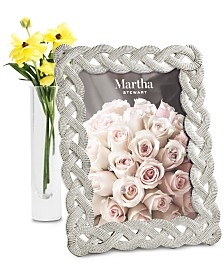 "Martha Stewart Collection Small 5"" x 7"" Braided Frame, Created For Macy's"