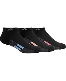 adidas 3-Pk. Superlite Stripe Low-Cut Women's Socks