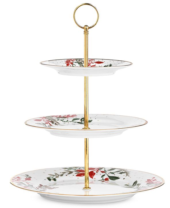 Martha Stewart Collection Royal Blush 3-Tier Server, Created for Macy's