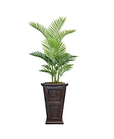 "75"" Real Touch Palm Tree in Fiberstone Planter"