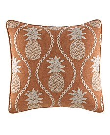 Tommy Bahama Batik Pineapple Burnt Coral Throw Pillow