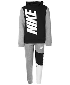 Nike Big Boys Amplify Logo Hoodie & Athletic Pants Separates