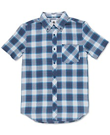 Men's Gradient Woven Plaid Shirt