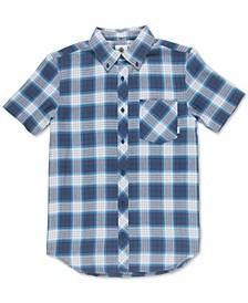 Men's Gradient Woven Plaid Shirt