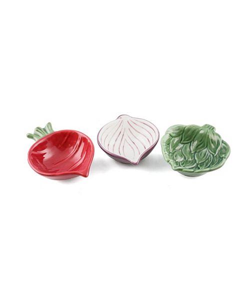 Thirstystone CLOSEOUT! La Dolce Vita Set of 3 Ceramic Artichoke, Onion & Beat Condiment Bowls
