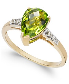Peridot (2-1/5 ct. t.w.) & Diamond Accent Ring in 14k Gold