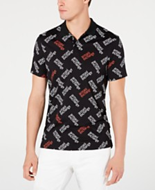 A|X Armani Exchange Men's Allover Logo Polo Created For Macy's