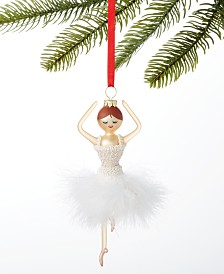 Holiday Lane Ballet Ballerina in White Tutu Ornament Created For Macy's