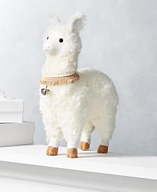 "Holiday Lane Dreamland 14"" Llama, Created for Macy's"