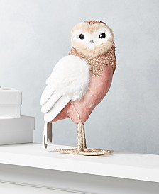 """Holiday Lane Dreamland 13""""H Pink Owl, Created for Macy's"""