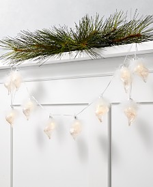 Holiday Lane Seaside LED Conch Shell Garland, Created for Macy's