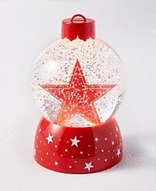 Holiday Lane Christmas Cheer Star LED Snow Globe, Created for Macy's