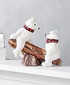 """Christmas Cheer 9""""H Polar Bears and Seesaw Décor, Created for Macy's"""