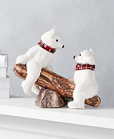 "Holiday Lane Christmas Cheer 9""H Polar Bears and Seesaw Décor, Created for Macy's"