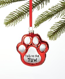 Holiday Lane Pets Paw Ornament, Created for Macy's