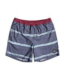 "Quiksilver Men's Dunes Stripes Volley 17"" Swim Short"