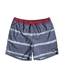 """Quiksilver Men's Dunes Stripes Volley 17"""" Swim Short"""