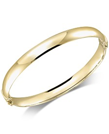 Italian Gold Polished Bangle Bracelet