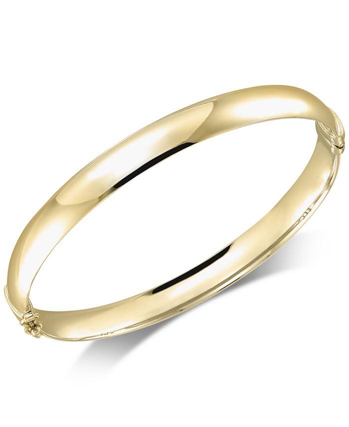 Italian Gold - Polished Bangle Bracelet