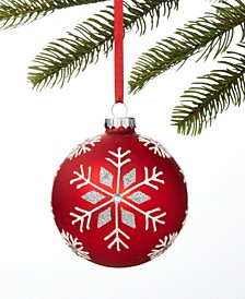 Make Merry Snowflake Ball Ornament, Created for Macy's