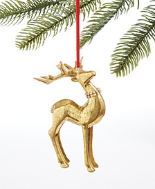 Midnight Blue Gold Reindeer Ornament, Created for Macy's