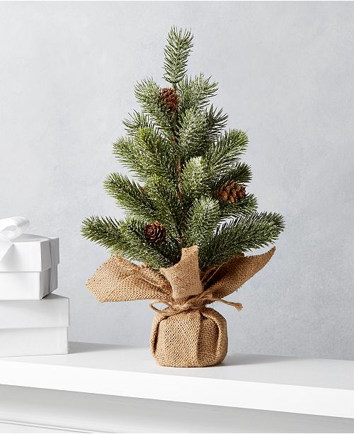 Christmas Base.The Holiday Collection Christmas Tree With Burlap Base Created For Macy S