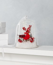 Martha Stewart Collection Farmhouse Holidays Glass Cloche Ornament with Red Cardinal, Created for Macy's